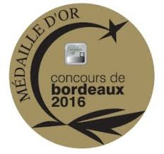 Medaille Or Bordeaux 2016
